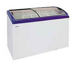 Морозильный ларь (крышка гнутое стекло) Italfrost  C-400