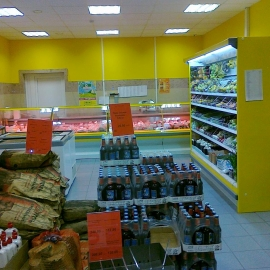 Витрина под выносным холодоснабжением Кифато Москва
