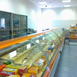 Витрина холодильная Кифато Москва, сырные лотки