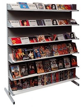 Стеллаж островной для продажи CD/DVD/VHS/MC