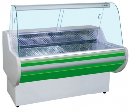 Витрина холодильная (гнутое стекло) Премьер-Классика стат. 150 ВСУП1/К-1,5